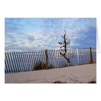 Dusk at Jupiter Beach Card