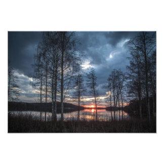 Dusk at the Lake Photo Print