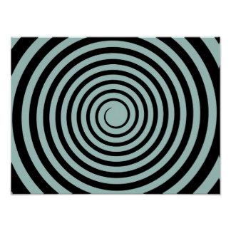 Dusk Blue & Black Spiral Customized Template Poster