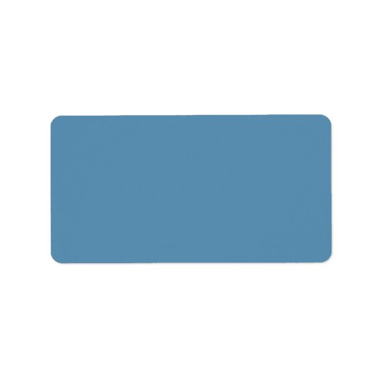 Dusk Blue Trend Colour Customized Template Blank Label