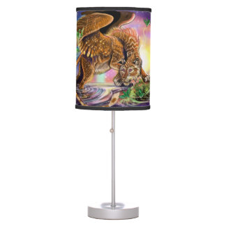 Dusk Hunter Flying Cat Table Lamp