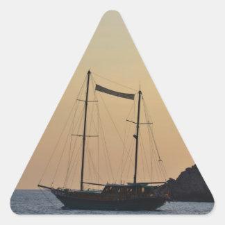 Dusk In Ibiza Triangle Sticker