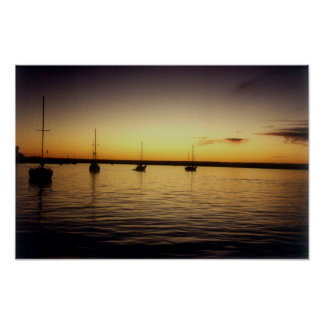 Dusk on the Bay of La Paz Poster