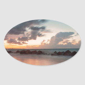 Dusk Oval Sticker