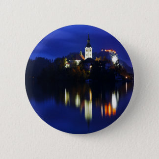 Dusk over Lake Bled 2 Inch Round Button