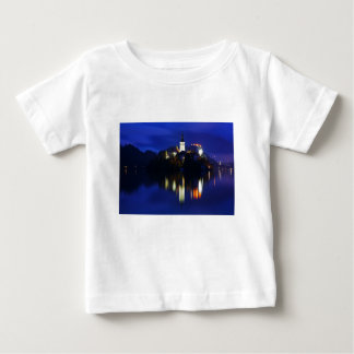 Dusk over Lake Bled Baby T-Shirt