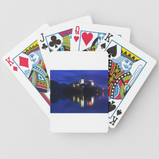 Dusk over Lake Bled Bicycle Playing Cards