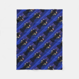 Dusk over Lake Bled Fleece Blanket