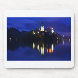 Dusk over Lake Bled Mouse Pad