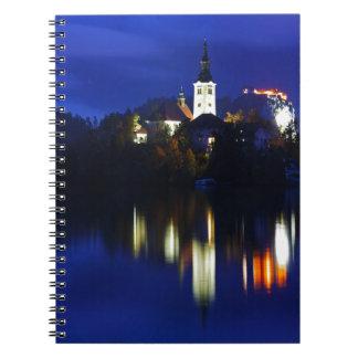 Dusk over Lake Bled Notebook