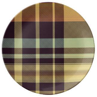 Dusk Plaid Plate