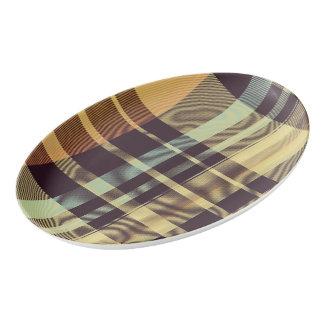 Dusk Plaid Porcelain Serving Platter