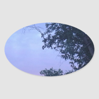 Dusk Sky Oval Sticker