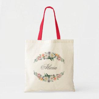 Dusk Watercolor Flower | Tote Bag