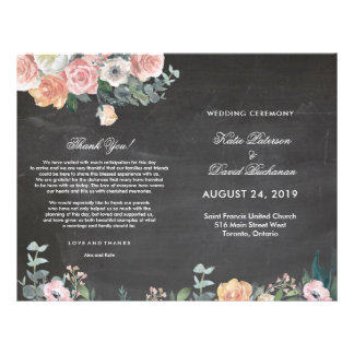 Dusk Watercolor Flower | Wedding Program