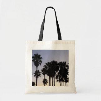 Dusk with Palm Trees Tropical Scene Tote Bag