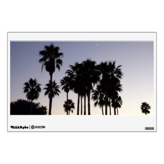 Dusk with Palm Trees Tropical Scene Wall Sticker
