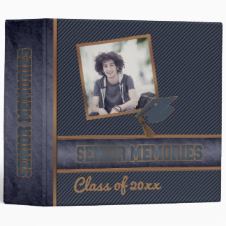 Dusky Blue Class Graduation Senior Memories Vinyl Binders