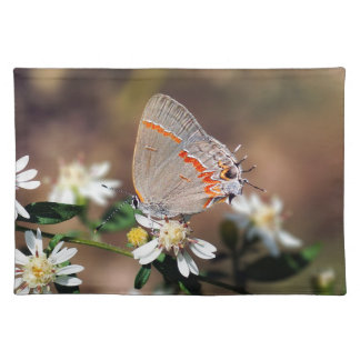 Dusky Blue Hairstreak Butterfly Cloth Placemat
