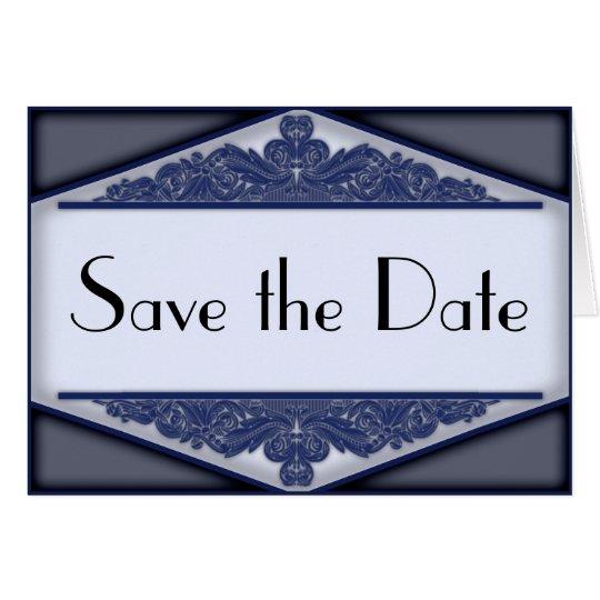 Dusky Blue Vintage, save the date card