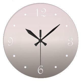 Dusky Pink Taupe Gradient Large Clock