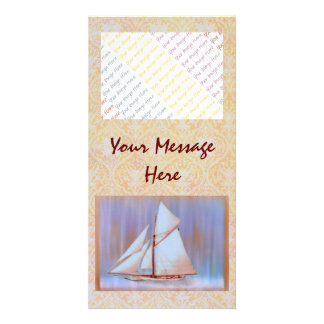 Dusky Sails photocard Photo Card Template