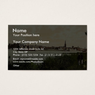 Dusseldorf from the Rhine, the Rhine, Germany clas Business Card