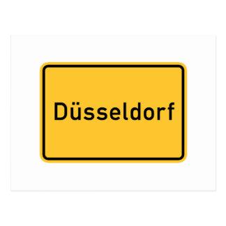 Dusseldorf, Germany Road Sign Postcard