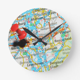 Düsseldorf, Germany Round Clock