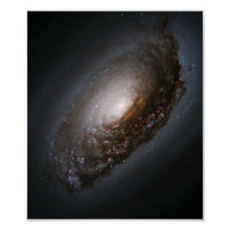 Dust Band Around the Nucleus of Black Eye Galaxy M Poster