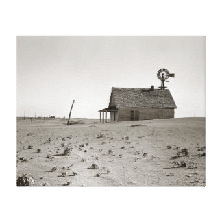Dust Bowl Farm, 1938. Vintage Photo Canvas Print