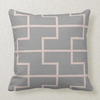 Dust pink lattice throw pillow