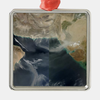 Dust storms Silver-Colored square ornament