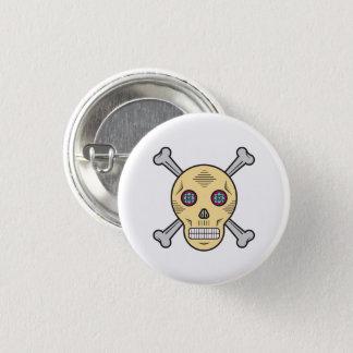 Dust Sugar skull and bones 1 Inch Round Button