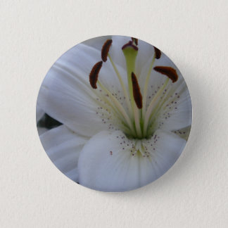 Dusted White Lily 2 Inch Round Button