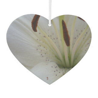 Dusted White Lily Car Air Freshener