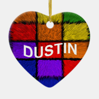 DUSTIN CERAMIC HEART ORNAMENT