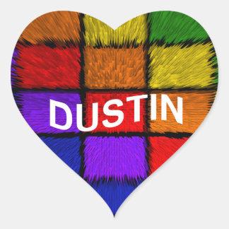 DUSTIN HEART STICKER