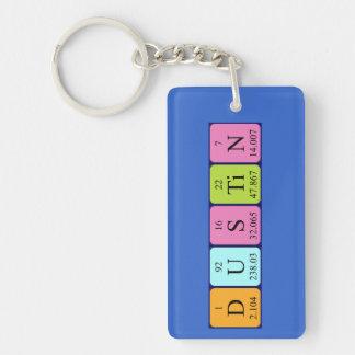 Dustin periodic table name keyring Single-Sided rectangular acrylic keychain