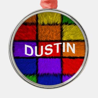 DUSTIN Silver-Colored ROUND ORNAMENT