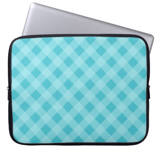 Dusty Aqua Gingham Laptop Sleeve