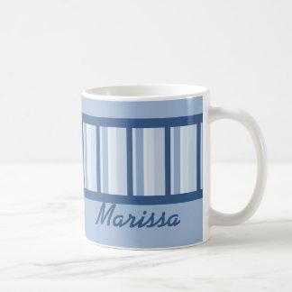 Dusty Blue Deco Personalized Mug