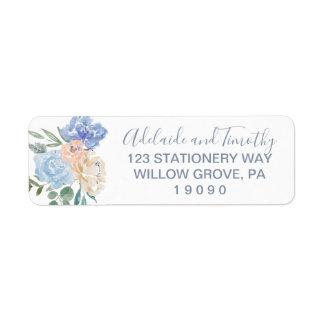 Dusty Blue Florals Wedding