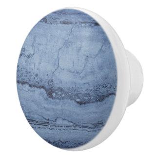 Dusty Blue Granite Ceramic Knob