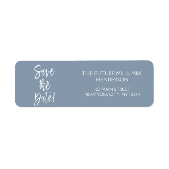 Dusty Blue Save the Date Return Address