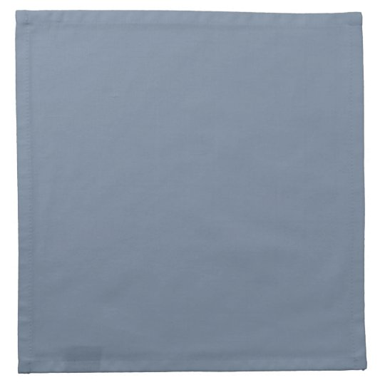 Dusty Blue Slate Grey Grey Solid Colour Background Printed Napkin
