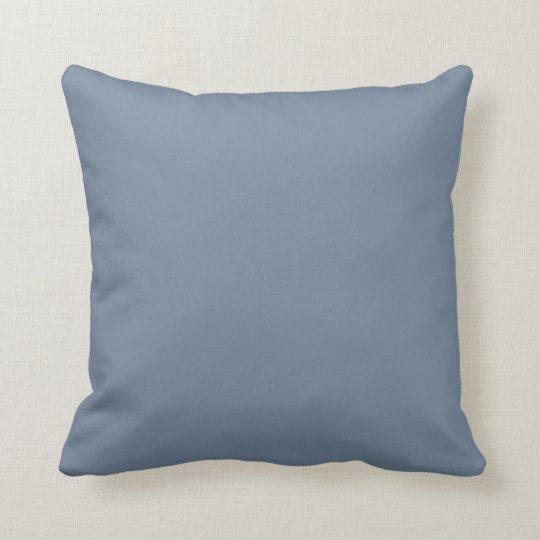 Dusty Blue Slate Grey Grey Solid Colour Background Throw Pillow