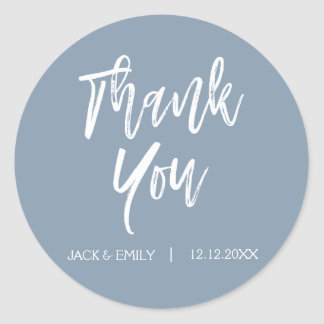 Dusty Blue Thank You Envelope Seal
