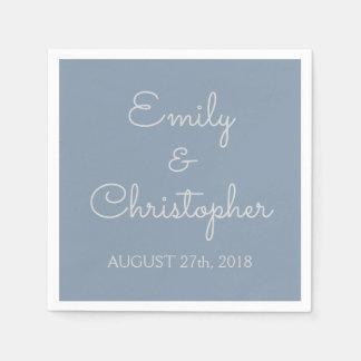 Dusty Blue Wedding or Reception Simple Napkins