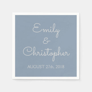 Dusty Blue Wedding or Reception Simple Napkins Disposable Napkins